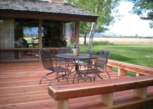 Deck - Golf Creek Ranch condo- Beautiful unit with Fantastic Views - Jackson - rentals