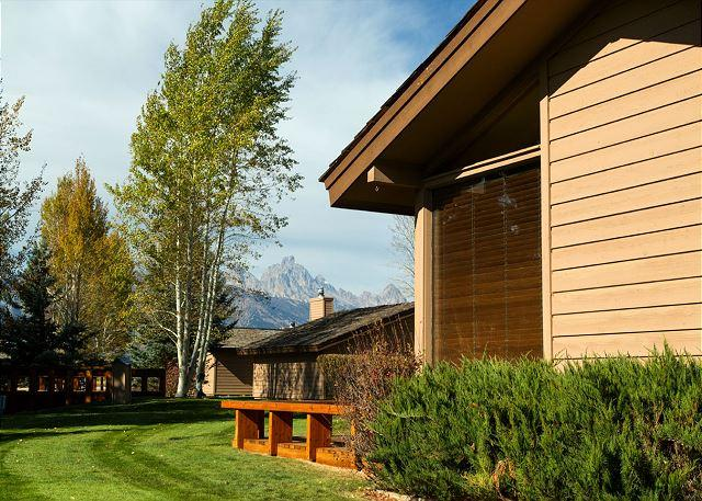 Golf Creek 11 - view from side of unit - Close to Grand Teton National Park! Golf Creek Ranch condo - Jackson - rentals