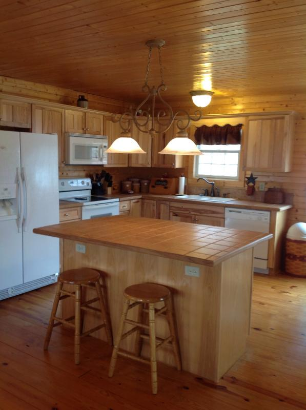 Kitchen - Beautiful Blue Ridge Mt view cabin with hot tub - Luray - rentals