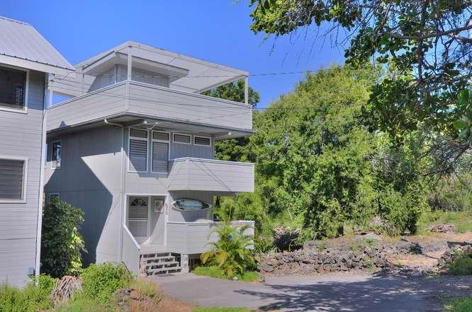 park in front of house, facing the mountain - Historical Kahaluu beach, Fun Kailua Kona location - Kailua-Kona - rentals