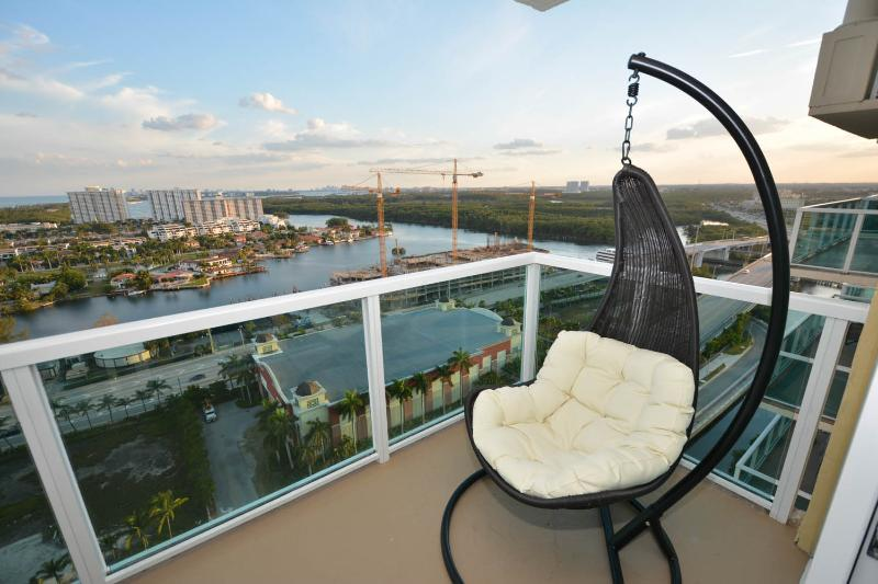 View from theBalcony - Miami Florida  2BD/2B Luxury Water view Amazing !! - Sunny Isles Beach - rentals