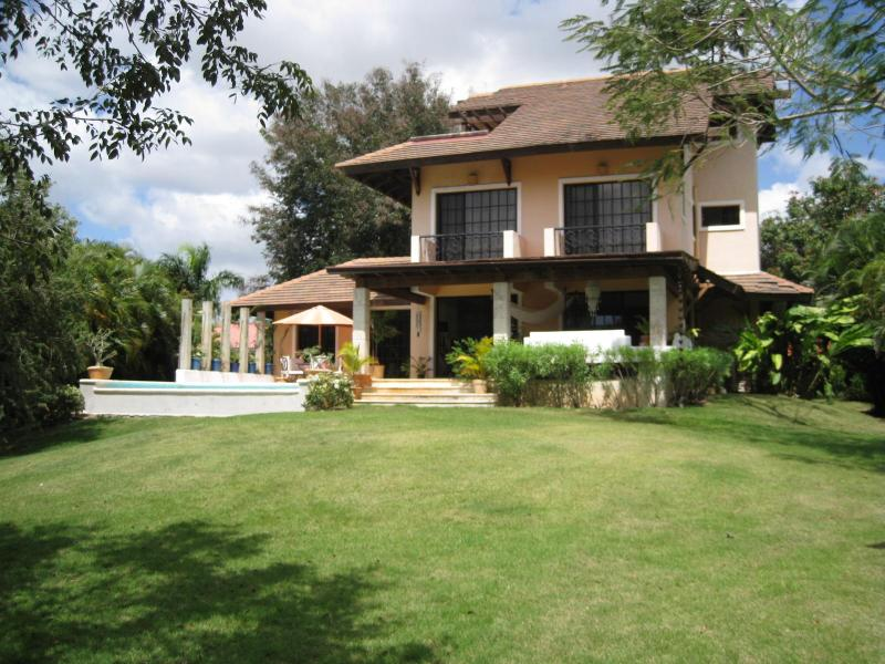 "View from garden area - La Romana, CasaDeCampo: ""La Caribelle"", charming & close to beach, hotel & marina - La Romana - rentals"