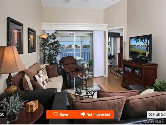 Living room and golf course view - Great Golf -- Beaches Nearby -- Monthly Rental - Bonita Springs - rentals