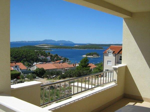 Balcony - Luxury Apartment In Villa , Hvar Town, With Sea View For 6/7 P - Hvar - rentals