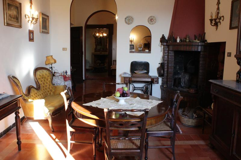 Dining room with fireplace - Charme and relax on the hills close to Senigallia - Ostra Vetere - rentals