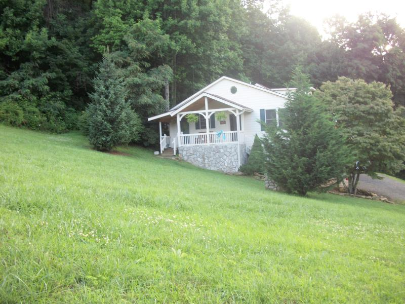Front of home - Mountain View Creek  Cottage - On 5 beautiful private acres - Waynesville - rentals