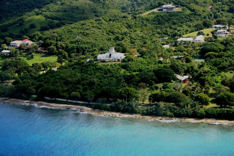 Mill Point from the sky, close to sandy beach - Serene Beachside Villa Built Around Historic Mill - Frederiksted - rentals
