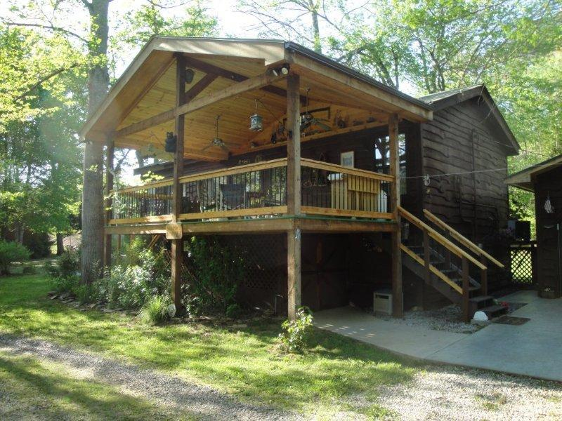 Wild Bills River Escape Cabin - Wild Bills River Escape Garden hot tub/gem mines - Franklin - rentals