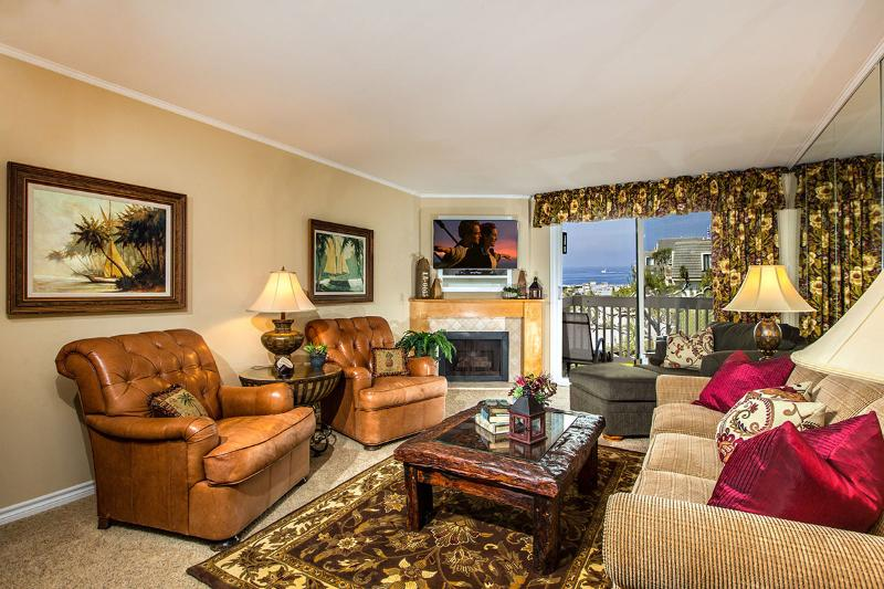 Straight-on ocean views from your cozy living room! - Ocean View Paradise~Luxury West-facing Ocean View - Oceanside - rentals