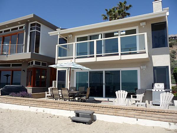 Beach View of Home - Family Beach Home on the Sand - Capistrano Beach - rentals