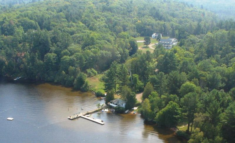 Ariel photograph of Clyffe House property - Jenner Cottage - Clyffe House Cottage Resort - Port Sydney - rentals