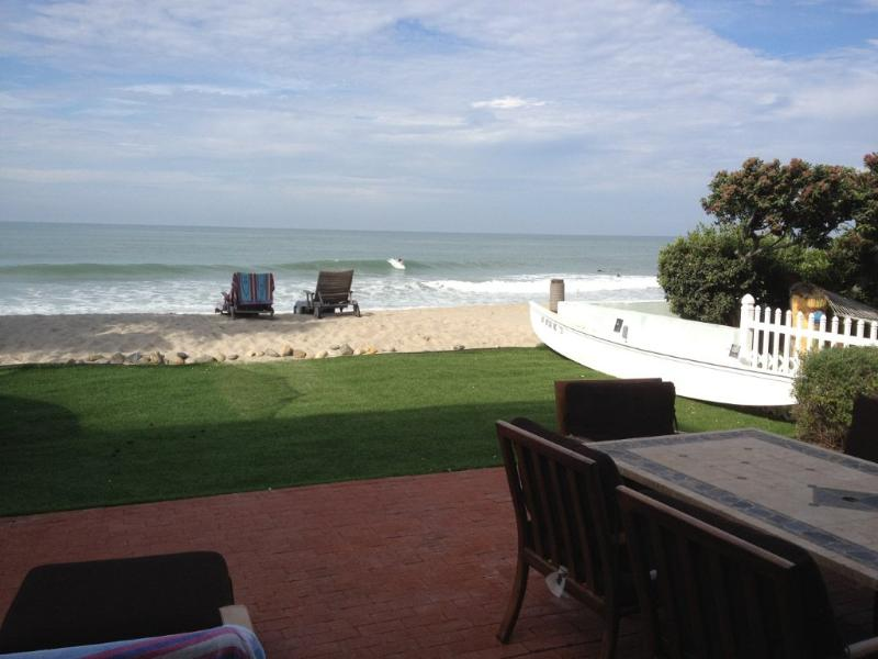 Lower Level Patio - Deluxe Oceanfront Beach House on the Sand - Capistrano Beach - rentals