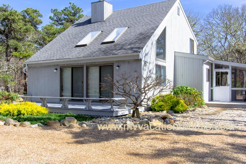 Exterior of Side - BOGUJ - South Beach Contemporary,  Light Filled Interior,  Screened Porch and Sunny Deck, Conveniently located to Beach and Five minute drive to Edgartown Village Center - Edgartown - rentals