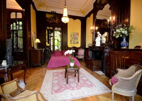 Bedroom on lower level - Paris Vacation Rental at Parc Monceau Palace - World - rentals