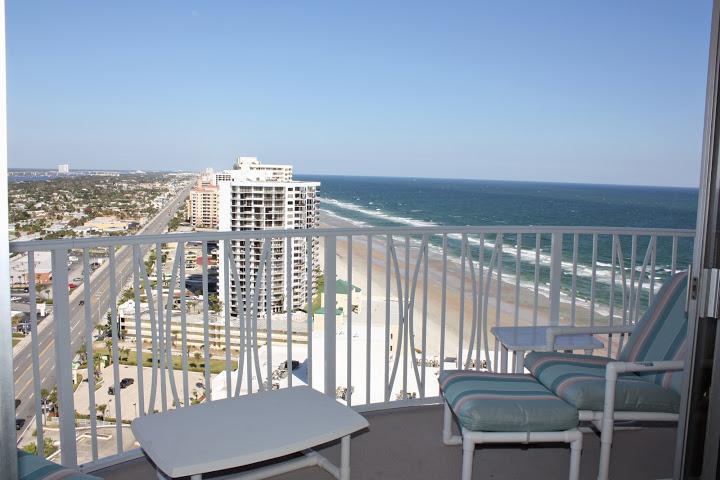 View from balcony - Daytona Amazing Panoramic Views/ 2 Bed-2 Bath - Daytona Beach - rentals