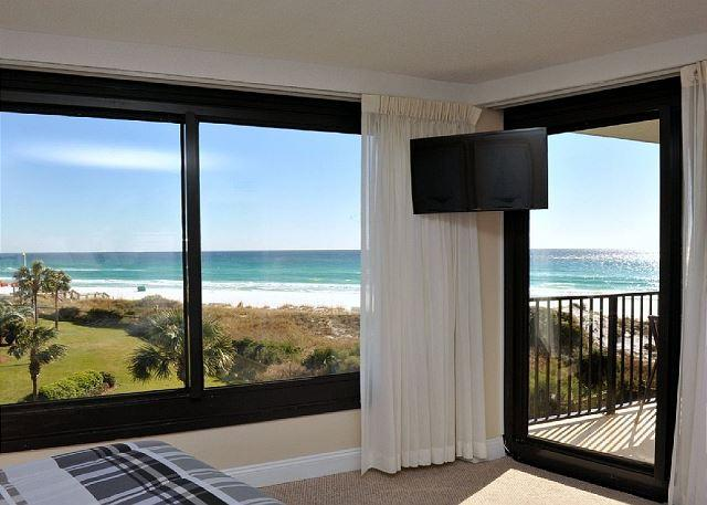 "Panoramic View of the beach from the Master Bedroom - Stay at ""THE GREAT ESCAPE""  -- A Perfect Beachside Condo For a Fall Break - Sandestin - rentals"