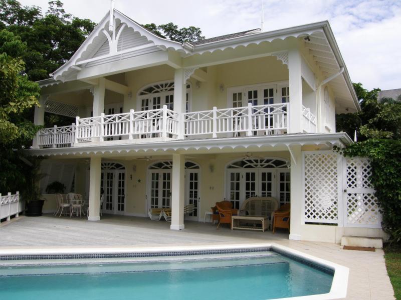 Yellowbird pool and front - Yellowbird, Tobago Beach Villas, Grafton Beach - Black Rock - rentals