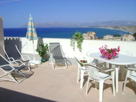 Terrazzo con vista panoramica sul golfo - Casa Nel Centro Storico Con Panoramica Su Tutto Il Golfo Di Castellammare - Castellammare del Golfo - rentals