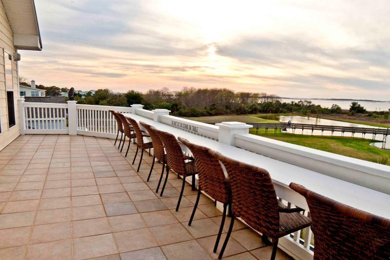 Third Floor Dining Patio - Outstanding Oceanfront/Nature Views. *NO FEES* - Tybee Island - rentals
