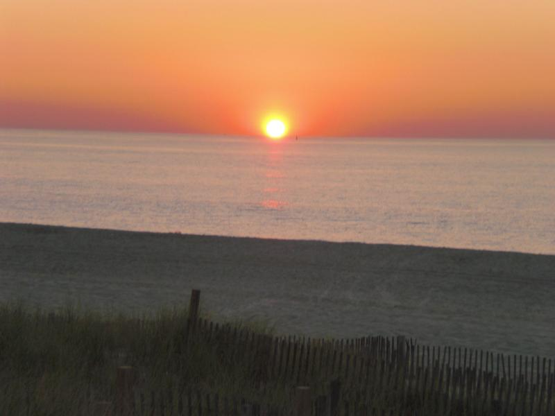 Morning Sunrise from the Deck - Beachfront living - your morning view... - Point Pleasant Beach - rentals