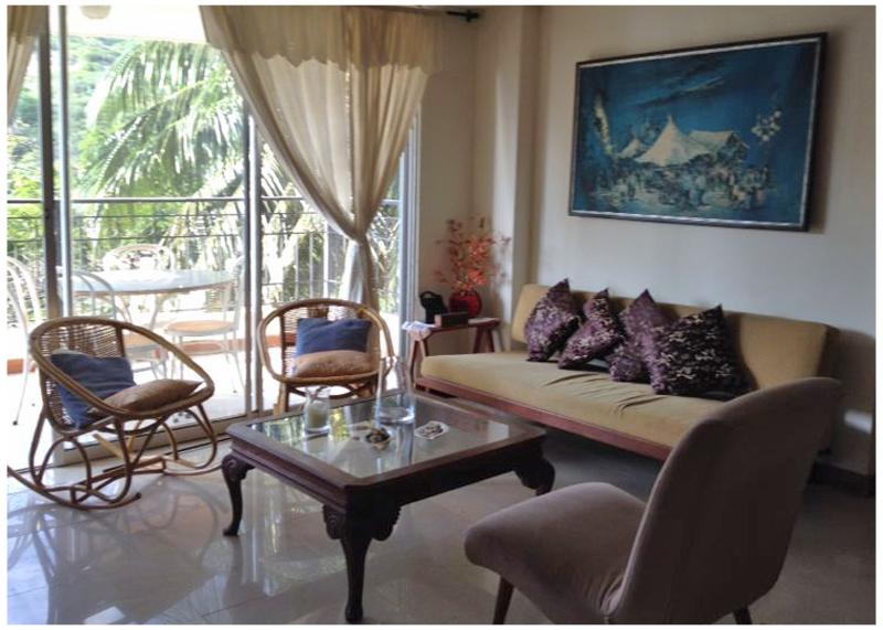 Welcome home! Your living room with open doors to terrace. - Great beachfront apartment - Santa Marta - rentals