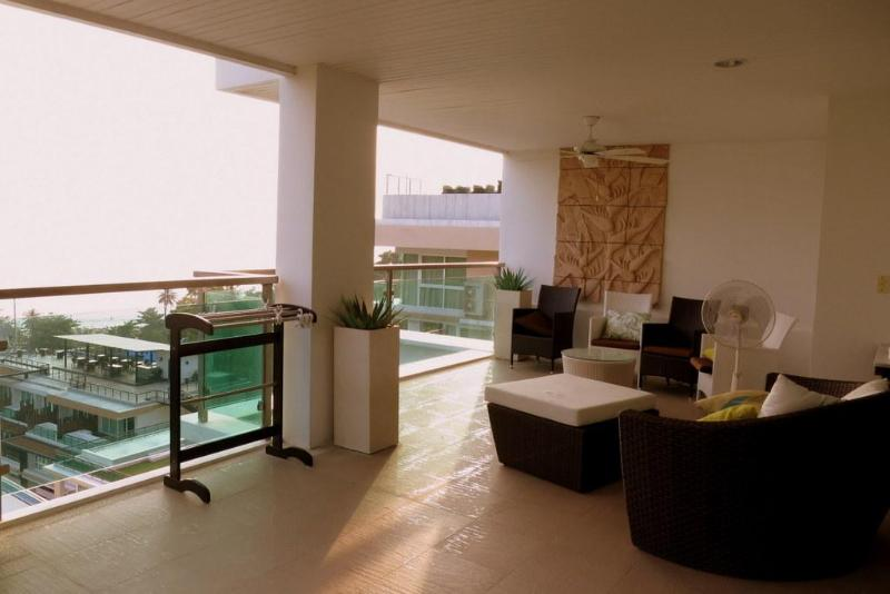 Large Terrace with sea view - 3 bedroom sea view apartment pool and gym in Paton - Patong - rentals