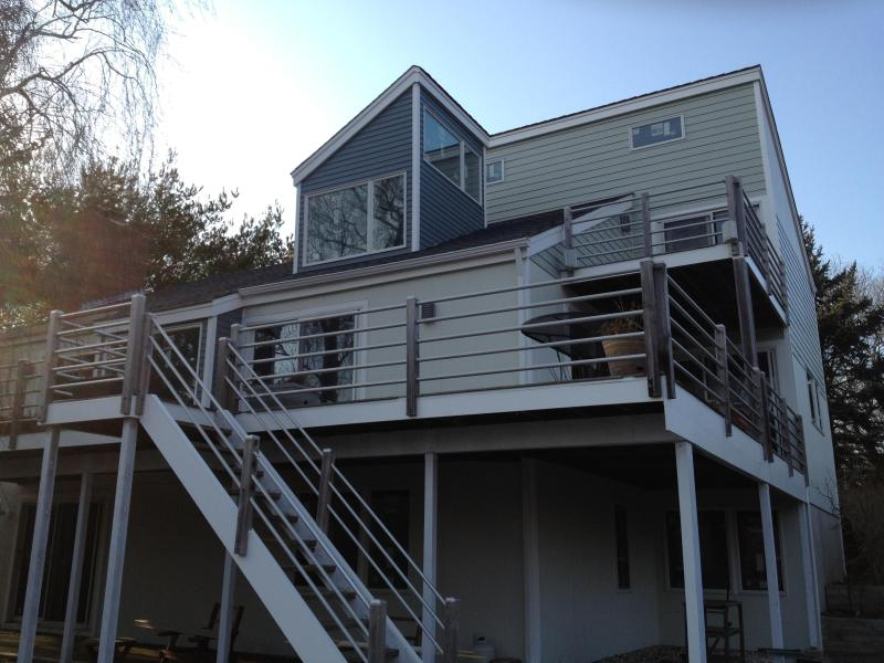 Back of house - North Fork House with Private Beach Access - East Marion - rentals