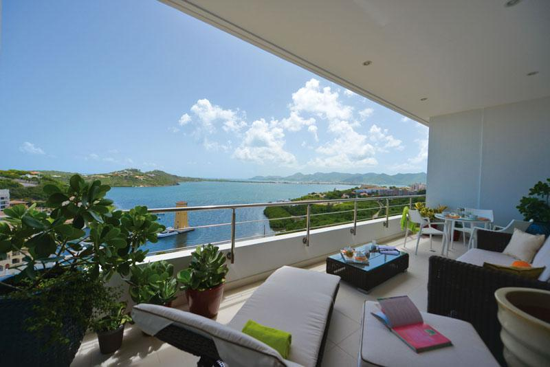 view from downstairs terrace - Moonrise Penthouse in Cupecoy with stunning view - Saint Martin-Sint Maarten - rentals