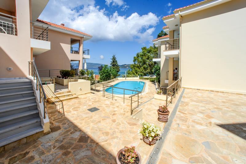 View from Patio - Beachside Apartment  near Sami, Kefalonia, Greece - Sami - rentals
