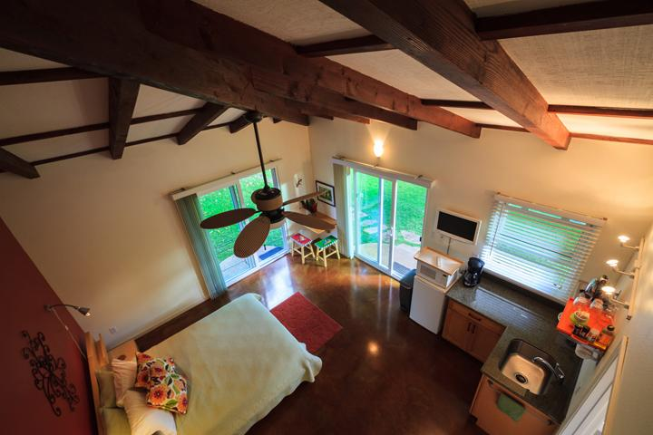 Unique high ceilings give room to breathe, a plus in the tropics! - Magnificent Beach Studio, Top Rated TripAdvisor Vacation Rental on Best Beach US - Waimanalo - rentals