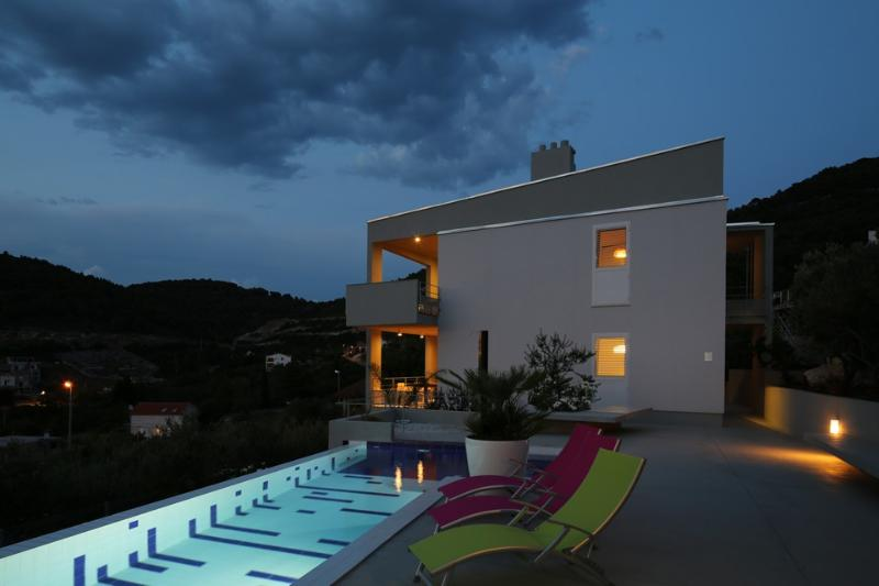 Seaview villa with pool for rent, Vis, Vis island - Image 1 - Vis - rentals