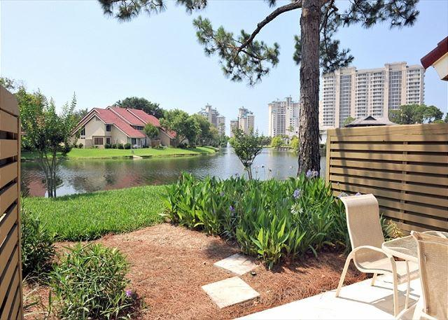 "View of the lake from the patio - Book ""MARGARITAS R US   at 20% offfor your Labor Day Getaway!   Pet Friendly! - Sandestin - rentals"