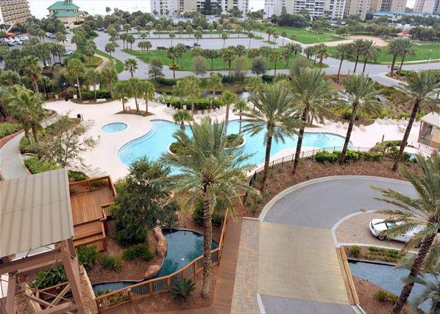 View from window of the Luau pool - Beautiful condo! Great for 2 couples with 2 king beds! Free Shuttle - Sandestin - rentals