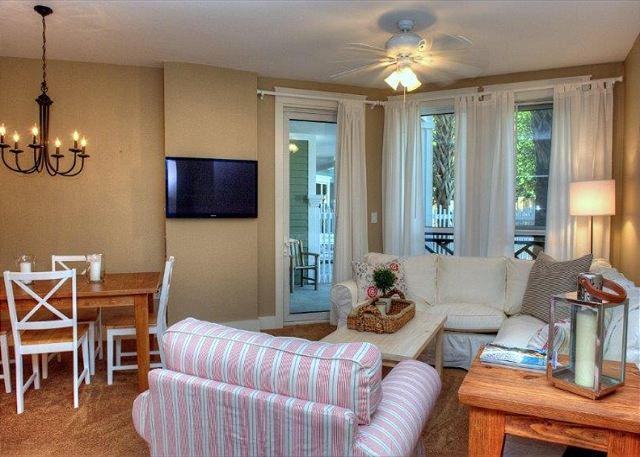 living and dining areas - Stay at 'Poolside Paradise'  at the Village! 20% Off Valentines Weekend! - Sandestin - rentals
