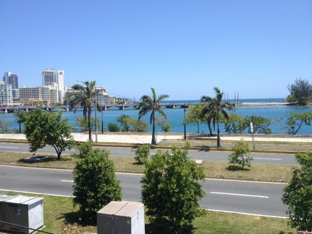 Front Balcony - Lagoon View - Amazing Miramar Lagoon Suite - balcony great views - San Juan - rentals