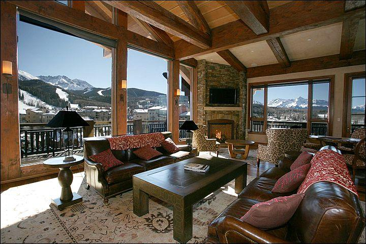 Stylish Finishes and Furnishings in the Living Room (Representative Unit) - True Mountain Luxury - Close to the Gondola, Golf & Hiking (6704) - Telluride - rentals
