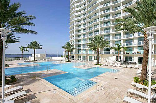 Oasis Pool - Ft Myers Florida Vacation 25th Floor Condo at Oasis - Fort Myers - rentals
