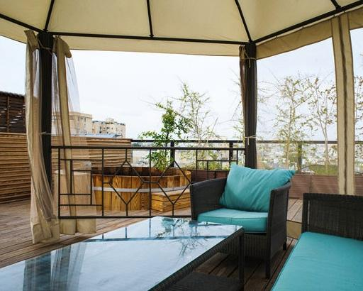 Roof Top Gazibo and Jacuzzi - 5 Star Sea Penthouse TLV - Tel Aviv - rentals