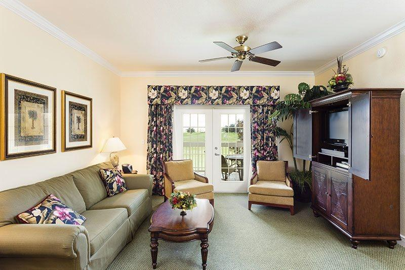 Living area of condo in Orlandos finest Resort - Heritage Crossing Retreat - 3 Bed condo with stunning Views from two balconies - Reunion - rentals