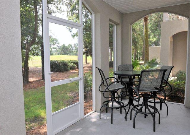 "Screened in Back Patio - ""FAIRWAY HIDEAWAY"" .July 26-30 open. 20% discount. Pet friendly! - Sandestin - rentals"