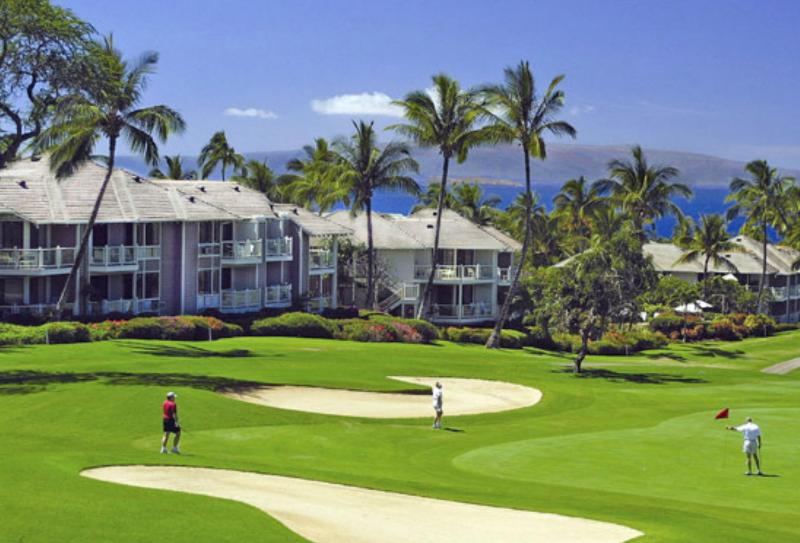 View from Waile Blue Gold Course - Wailea Grand Champions 3BR Oceanview & Golf Condo - Wailea - rentals