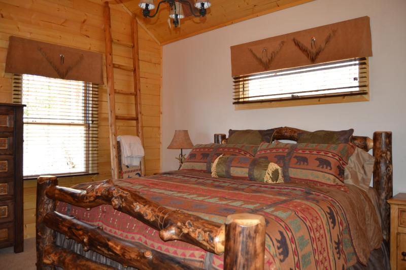 Master - Brand New 2 BR 2 Bath Log Cabin with Mountain View - Maggie Valley - rentals