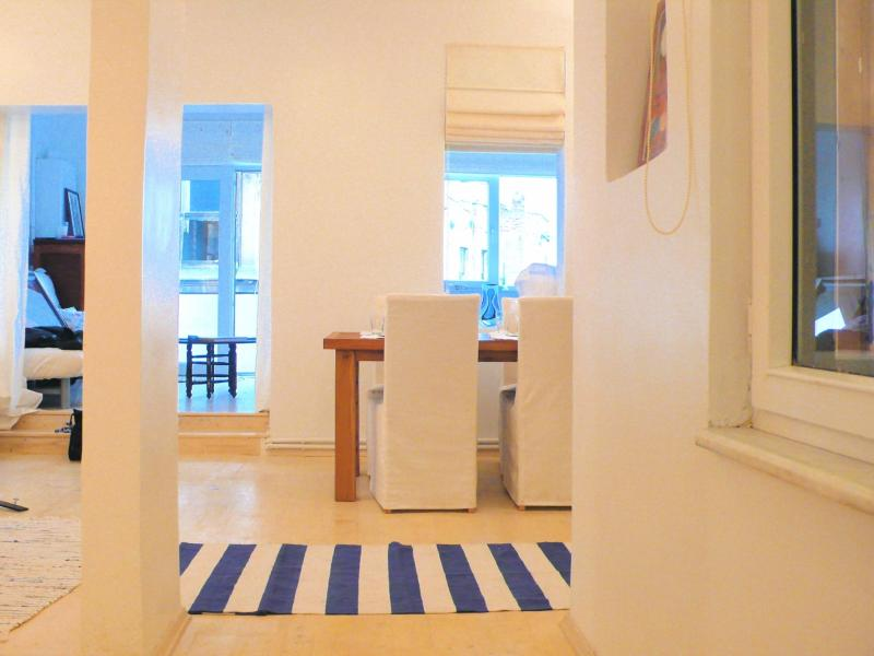 looking into apartment from entrance - Water & Old City Vus by Galata Tower, terrace (1) - Istanbul - rentals