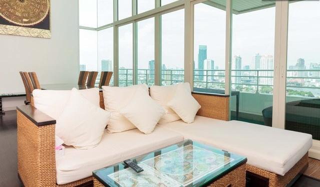 3BR-Orient Thai Decor Penthouse-Triplex-River View - Image 1 - Bangkok - rentals