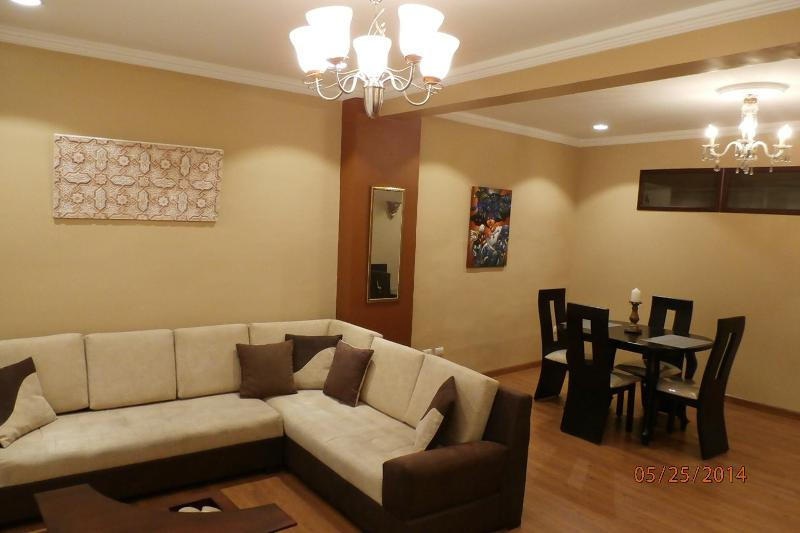 Living Room and Dining Area - Corazon (Heart) of El Centro Apt - Cuenca - rentals