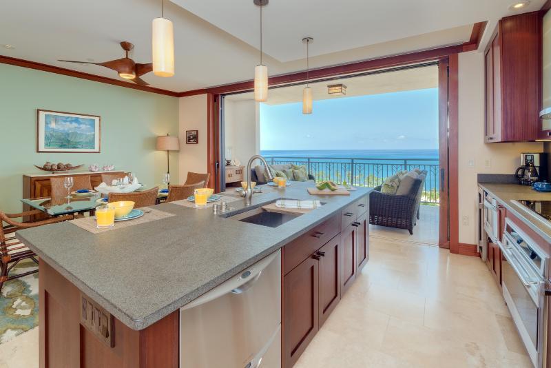 Ocean view from kitchen - O-1506: Hale Honu Ko Olina Beach Villa - Kapolei - rentals