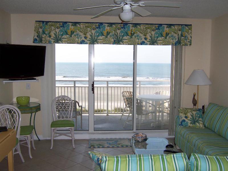 Living Room - Beautiful Ocean Front Condo - Ocean Isle Beach - rentals