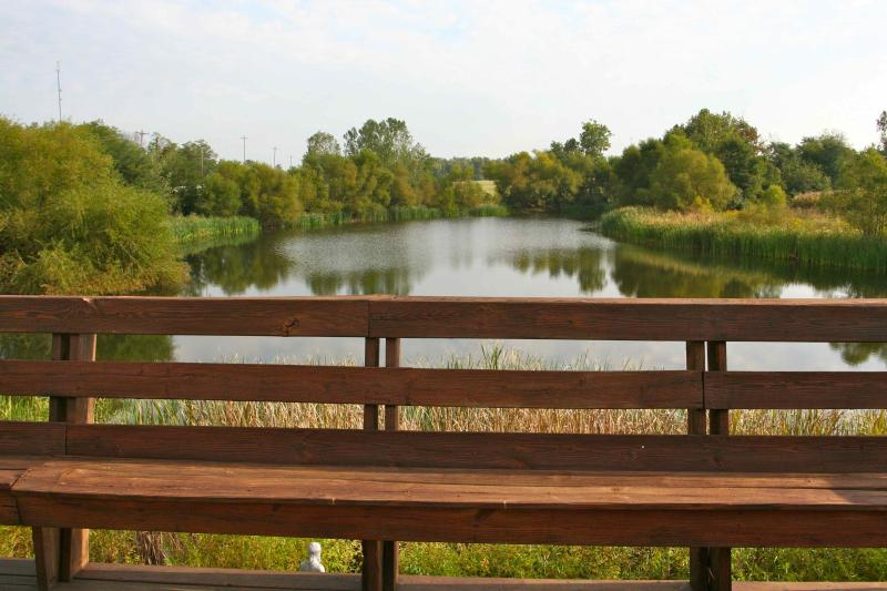 Picture of Fishing Lake from the Upper deck - House with private stocked fishing lake - English - rentals