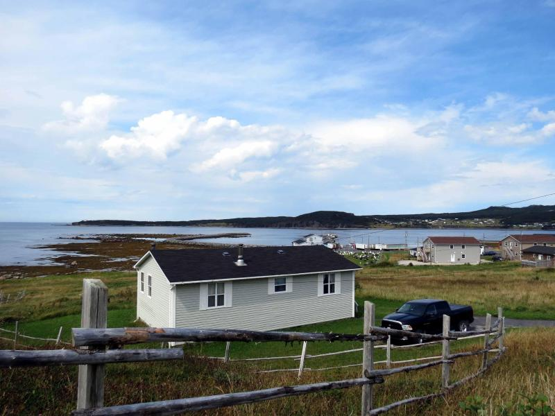 View of Cottage from Salmon Point Trail - Oceanfront Cottage in Gros Morne National Park (Bayview Heights) - Rocky Harbour - rentals