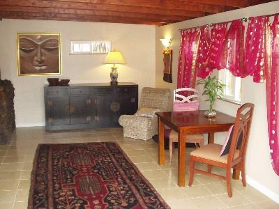 Living and Dining Room  Polished Floors - Zen Hale Tranquil and Private Cottage Lush Retreat - Kamuela - rentals